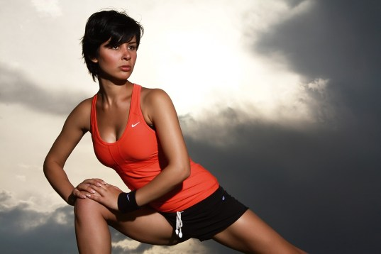 exercise session by woman