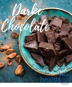 dark chocolate in a plate