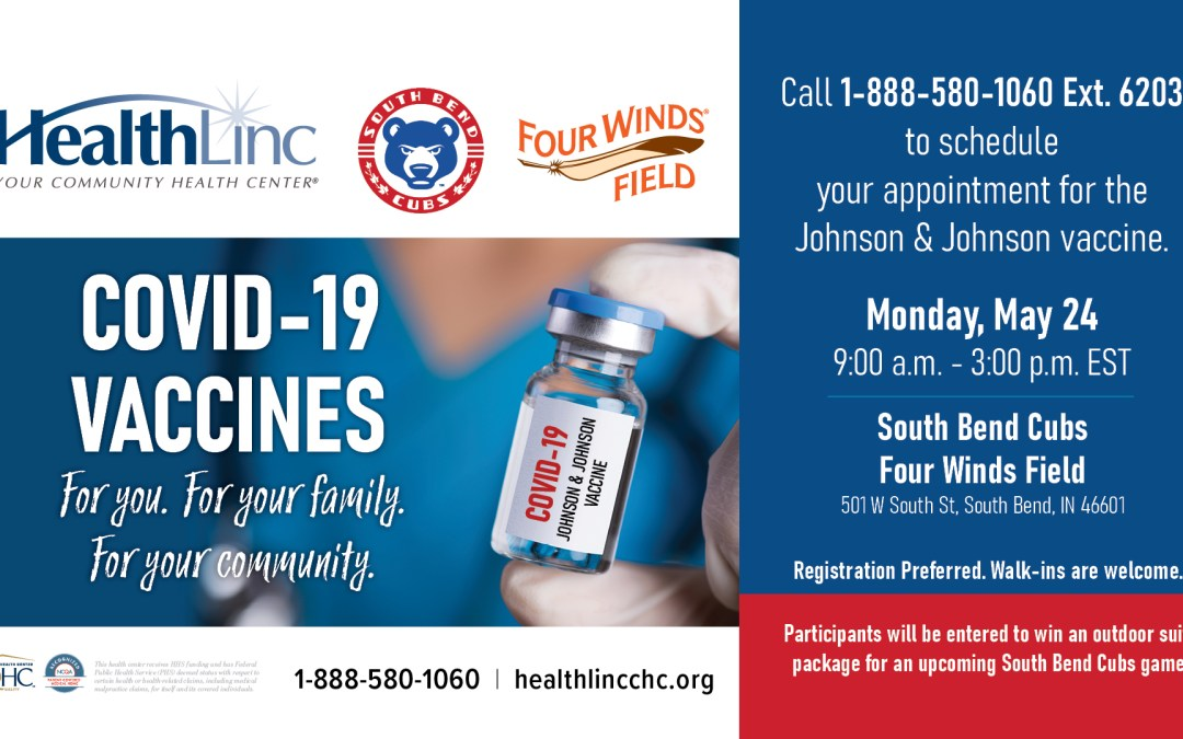 HealthLinc and the South Bend Cubs Host COVID-19 Vaccination Day