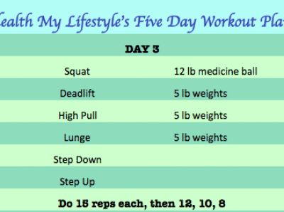 day 3 of five day workout plan