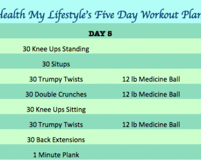 Day 5 Five Day Workout Plan