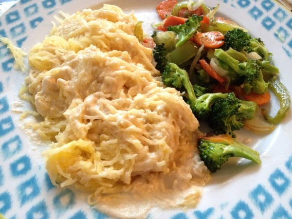 Cheese-Free Alfredo Alternative Spaghetti Squash