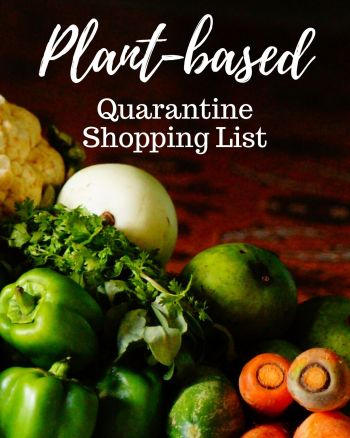 The ultimate list for quarantine, social and physical distancing on a plant-based vegan diet! Just because we're stuck at home doesn't mean we can't eat healthy! These are my best tips for grocery shopping to reduce your need to go weekly from produce that lasts the longest to pantry and freezer staples. Check out the full list and storing recommendations at healthmylifestyle.com #pantrystaples #freezermeals #shoppinglist #grocerylist #plantbased #vegan #mealprep #mealplanning