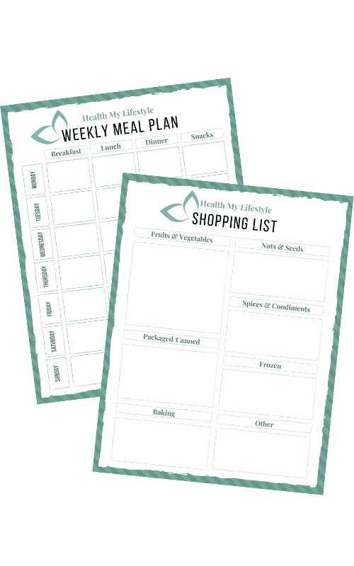 preview of meal planning templates