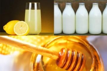 milk lemon juice honey face mask