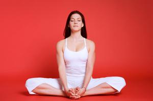 yoga cobbler's pose for fat loss