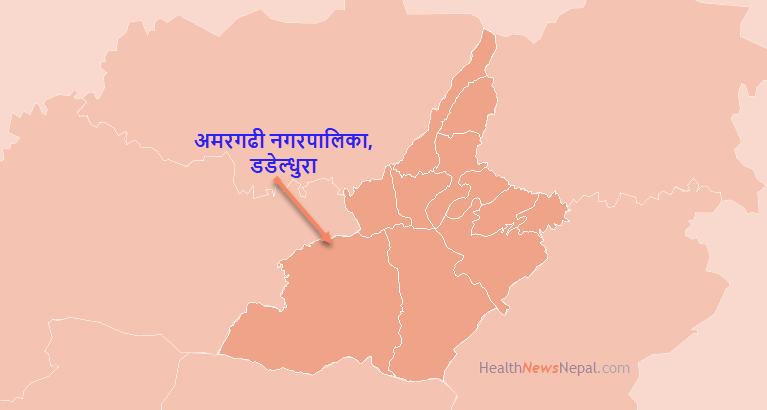 Map of Amargadhi Municipality, Dadeldhura