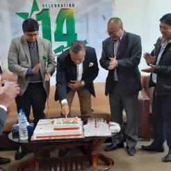 Star hospital 14th anniversary celebration cake cutting