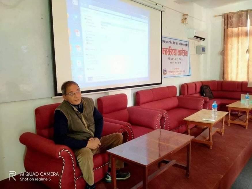 सुदूरपश्चिम प्रदेश स्वास्थ्य निर्देशक डा.गुण राज अवस्थी कार्यक्रममा अध्यक्षता गर्नु हुँदै
