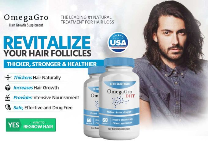OmegaGro DHT Hair Supplement