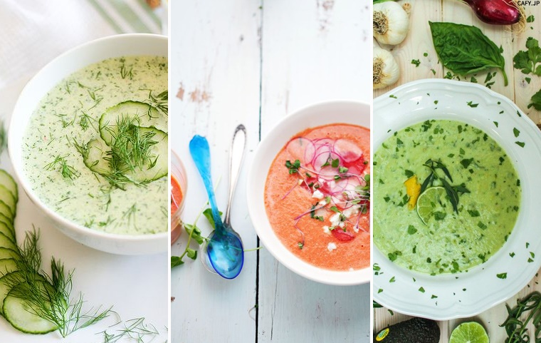 Delicious warming and cooling soups for winter and summer