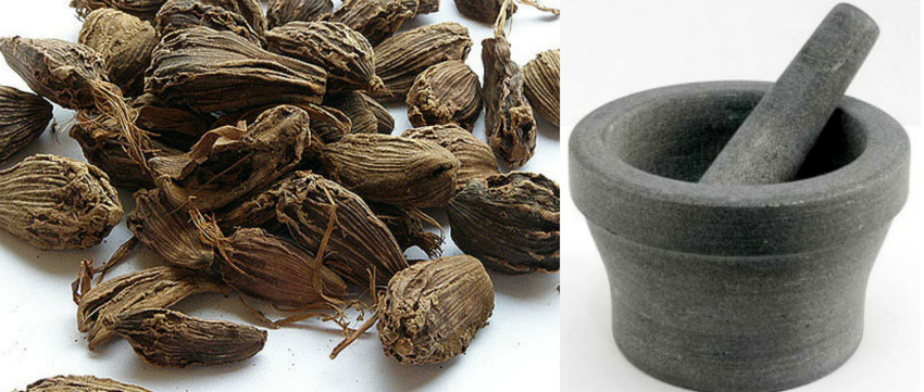 Black cardamom or hill cardamom