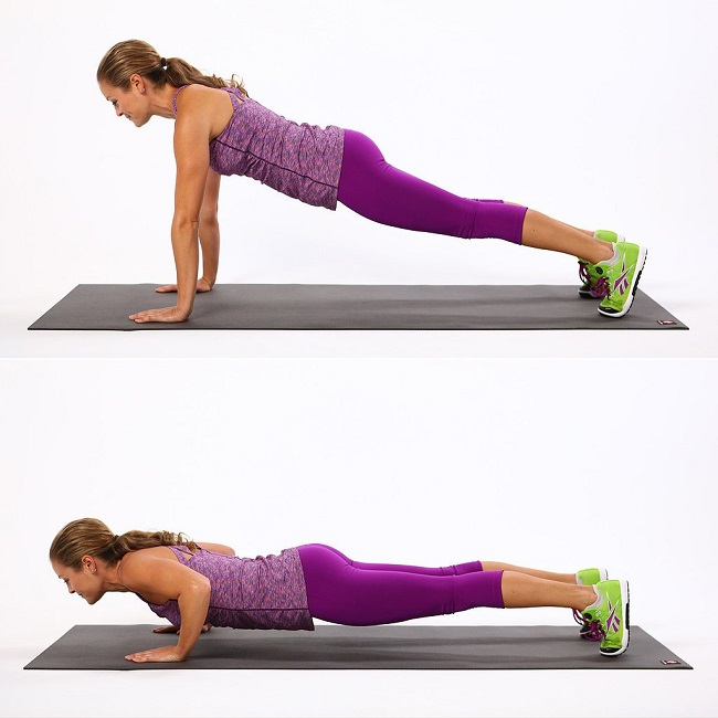Pushups for chest shoulder and arms
