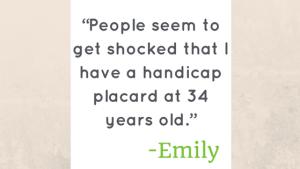 Emily, Ankylosing Spondylitis
