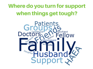 Where do you turn for support when things get tough with Hereditary Angioedema (HAE)?