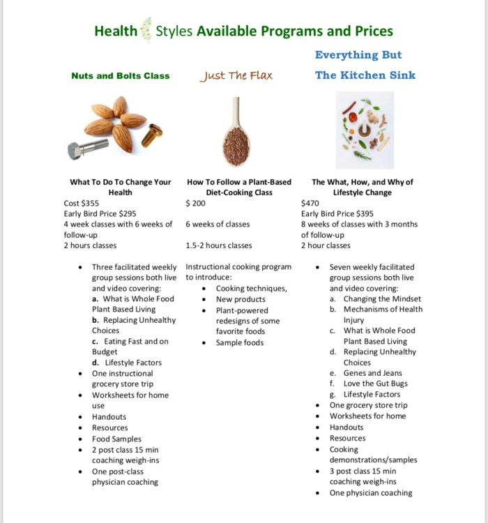 Healthstyle price sheet JPEG