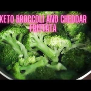 Keto Broccoli and Cheddar Frittata