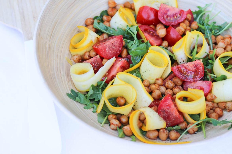 Kikkererwtensalade_courgette_tomaat