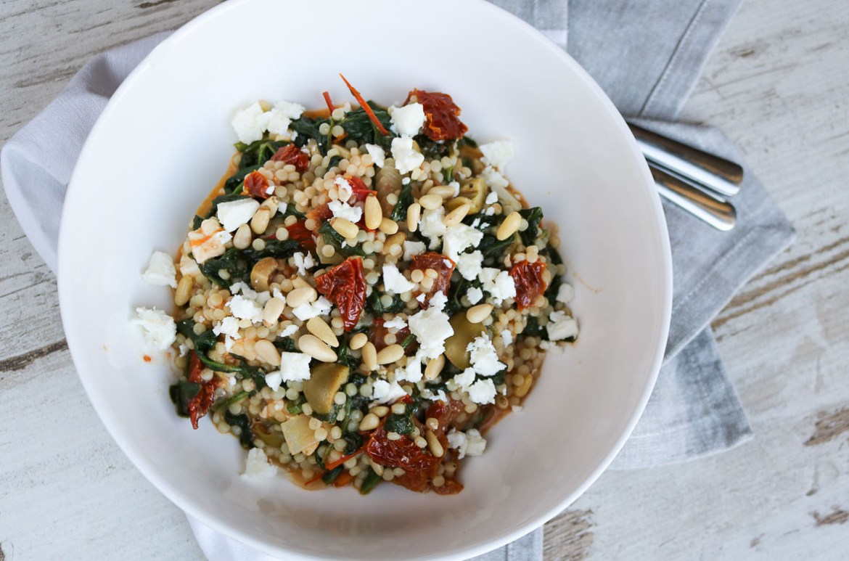parelcouscous-feta-spinazie-tomaat