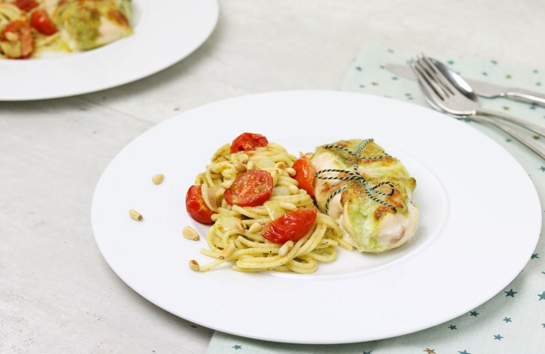 Gevulde-kip-met-pesto-pasta-2