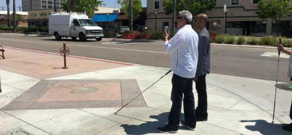 AR Guides Impaired Vision City Visitors