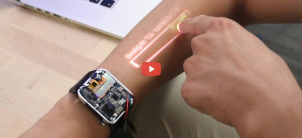 Smartwatch Turns Skin into Touchpad [video]