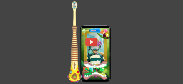 Interactive AR Toothbrush Coaches Kids [video]