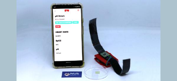 Novel Wearable Sensor Detects Sweat pH