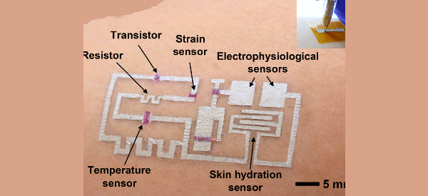 Draw Smart Sensors Directly on Skin with Inks