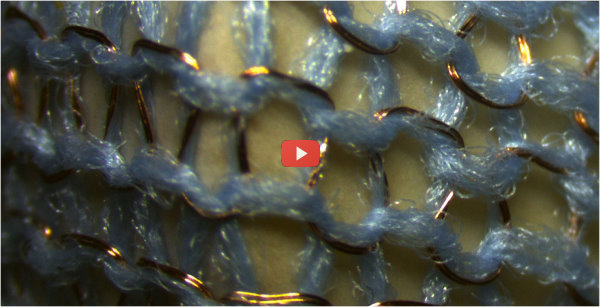 Flexible Fabric Conducts Electricity [video]