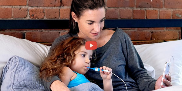 Connected Thermometer Uses Smartphone [video]