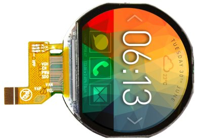 Round LCD with touch