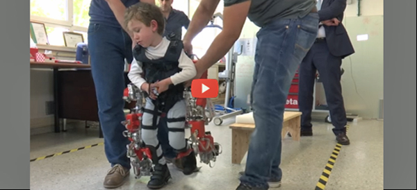 Kid-sized exoskeleton with video 600x274