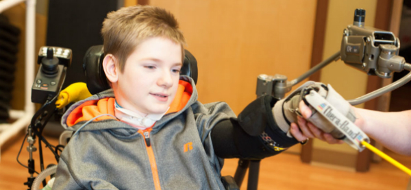 Zero-gravity Upper Extremity Exoskeleton Supports Duchenne Patients