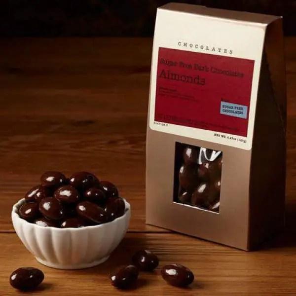 Sugar Free Dark Chocolate Dipped Almonds