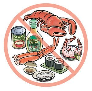 The above mentioned are the main food allergies. The best you can do ...