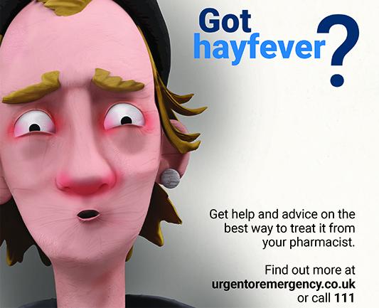 Plastercine person with hayfever