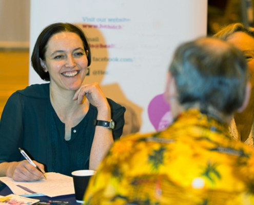 Healthwatch assistant at an event
