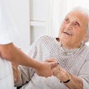 Older lady with carer