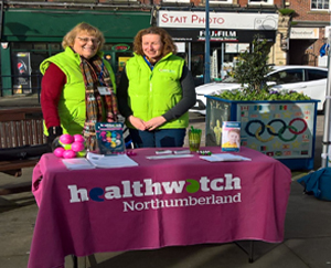 Healthwatch Stall in Morpeth
