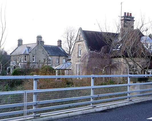 Buildings from Wylam bridge