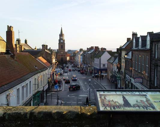 Berwick towin from the bridge