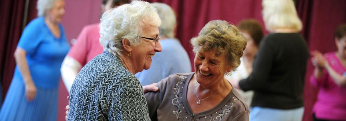 Older ladies dancing