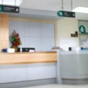 Hospital reception area