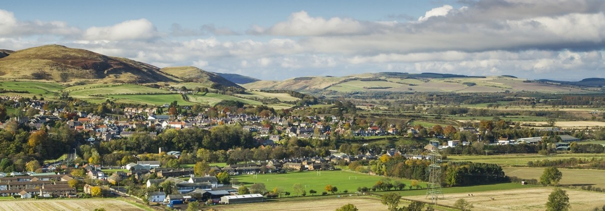 Panoramic view of Wooler