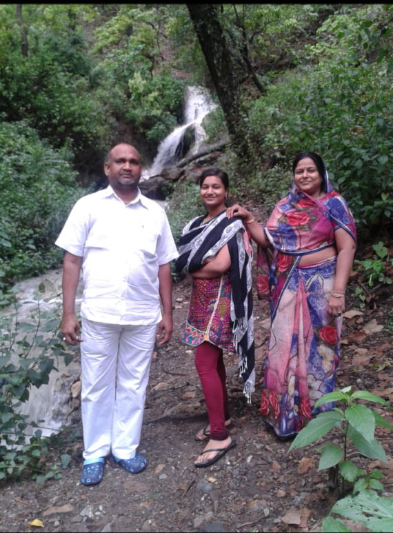 Dixita Mour with her family