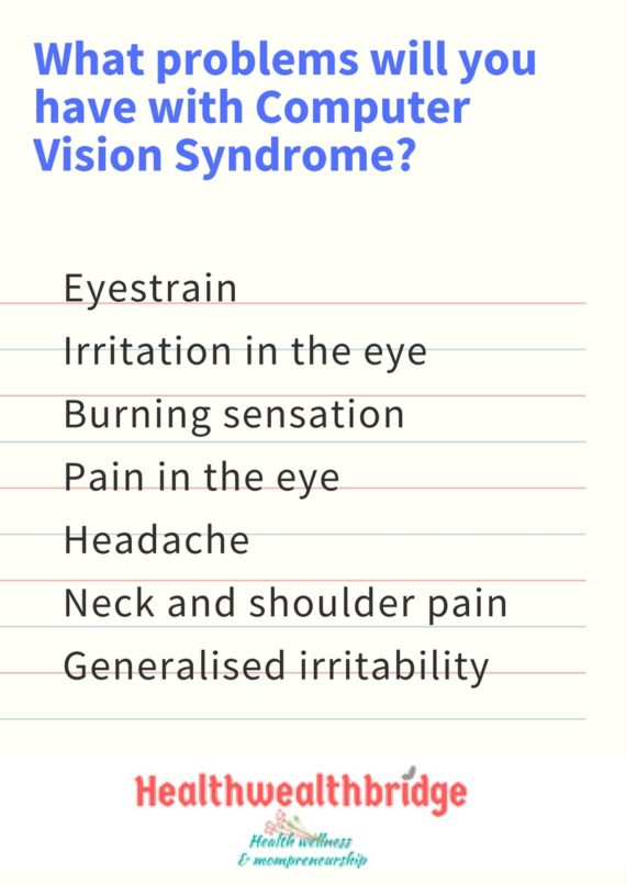 Computer Vision Syndrome:What complaints you may have