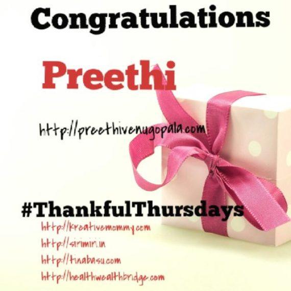 Thankful Thursdays week 14 winner