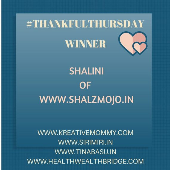 Congratulations Shalini !Ypur creative spirit and enthusiasm is inspiring.Love all that you are doing on your blog .Sending you loads of love and best wishes