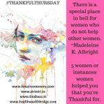 Thankful Thursdays :5 women who helped